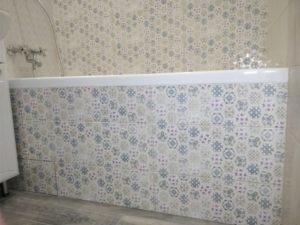 Установка акриловой ванны