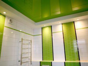 Монтаж натяжного потолка в ванной